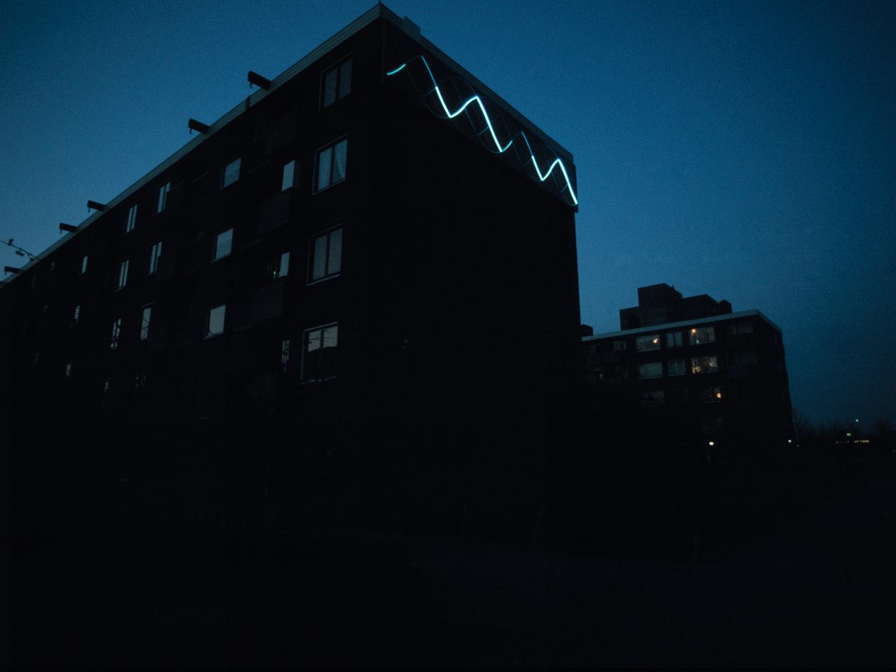 Neon Wave Sculpture