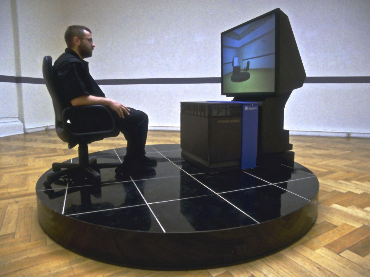 Virtual museum for Large motorized rotating platform
