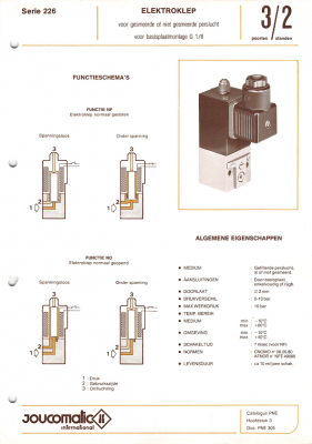 Electric Valve Specification [Dutch]