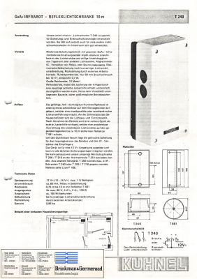 Infrared Motion Sensor Specification [German]